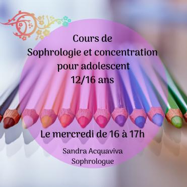 Cours de Sophrologie et concentration pour adolescent 12_16 ans